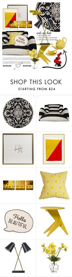 """Untitled #3491"" by kellie-debrandt-mescher ❤ liked on Polyvore featuring interior, interiors, interior design, home, home decor, interior decorating, Safavieh, Pottery Barn, Mattiazzi and Threshold"