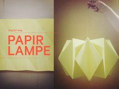 Steg for steg Papirlampe | Norway Designs