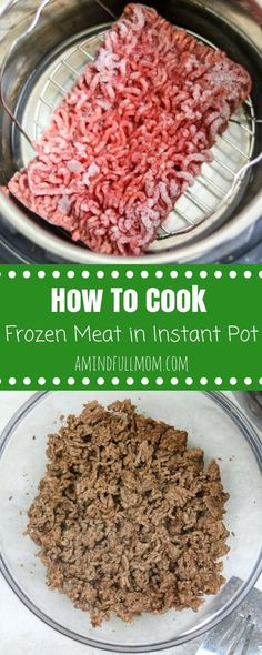 Instant Pot Ground Beef: The BEST way to make ground beef in the pressure cooker--perfectly cooked, tender beef EVERY SINGLE TIME! Directions on how to cook beef in Instant Pot from fresh and frozen with troubleshooting tips. via @amindfullmom