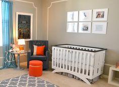 Gender-Neutral Nursery with Pops of Orange - Project Nursery