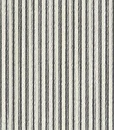 Upholstery Fabric- Waverly Classic Ticking/Black: upholstery fabric: home decor fabric: fabric: Shop | Joann.com