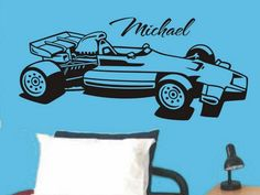 Personalized Race Car Wall Decal Sticker For by vgwalldecals