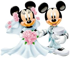Bride Groom Minnie Mickey
