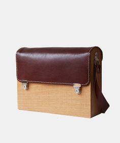 GRAV GRAV - Brown Wood Bag $110