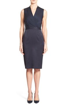 Classiques+Entier®+Mixed+Media+Surplice+Sheath+Dress+available+at+#Nordstrom