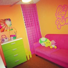 Colorful Super Mario Girly girl Playroom