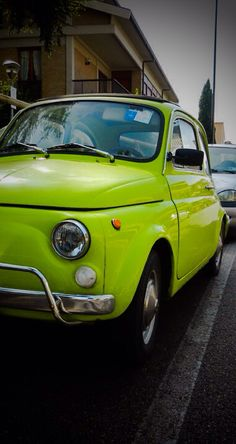 Fiat 500 LOVE that shade of green!