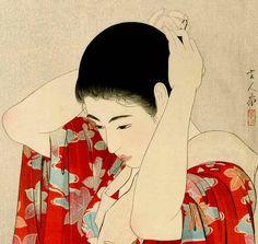 "Torii Kotondo (1900-1976) 鳥居言人 -  - ""Autumn Leaves - 紅葉"" - Woodblock"
