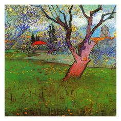 Vincent van Gogh. Vue D'Arles Avec Arbres En Fleurs (Orchards in Blossom, View of Arles), 1889