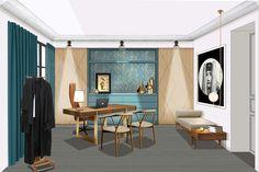 Home Guide Interior Design Interior Design Software, Interior Design Sketches, Contemporary Interior Design, Office Interior Design, Office Interiors, Design Offices, Interior Definition, Interior Design Presentation, Artwork For Home