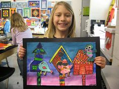 Jamestown Elementary Art Blog: 2nd Grade Architecture Birdhouses