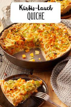 Pumpkin and leek quiche - Kochen - Best Tart Recipes Clean Pumpkin Recipes, Sweet Potato Recipes Healthy, Fall Soup Recipes, Veggie Recipes, Vegetarian Recipes, Quiche Recipes, Tart Recipes, Cooking Recipes, Quiches