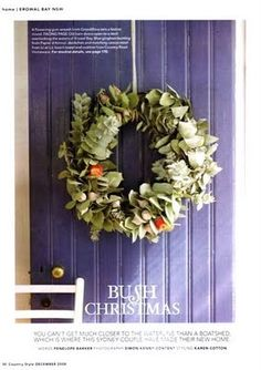 Christmas Wreaths Australian Style By absolutely beautiful things for dining roo. Christmas Wreaths Australian Style By absolutely beautiful things for dining room Aussie Christmas, Australian Christmas, Christmas 2019, Homemade Christmas Decorations, Christmas Crafts, Christmas Ideas, Xmas Decorations, Christmas Recipes, Christmas In Australia