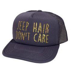 158c273e8670a JEEP Hair Don t Care Glitter Trucker Hat. Jeep ModsCustom HatsCaps For WomenBlack  MeshBlack WhiteGirls ...