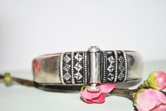 Vintage silver braclet silver cuff Indian by Lilacwinevintage, $65.00