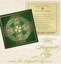 celtic wedding ideas | ... Irish Celtic Cross Wedding Invitation » Wedding Invitations | Bridal