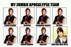 My zombie apocalypse team.