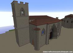 ¡MINECRAFTEATE!: Réplica Minecraft: Iglesia de San Juan (Aranda de Duero), Burgos, España.