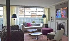 Moderno, pero con el espíritu de un clásico Sweet Home, Curtains, Living Room, Home Decor, Ideas, Classic Furniture, House Decorations, Modern Flooring, Columns