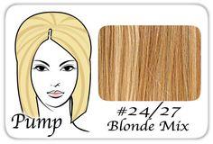 #24/27 Light Blonde w/ Dark Golden Lowlights Pro Pump