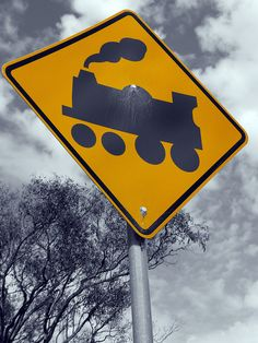 Railroad Crossing sign...