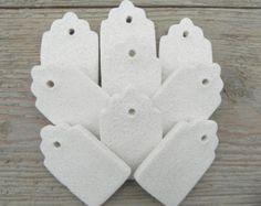 Sal masa regalo etiquetas DIY fijado de pasta de sal inacabado 18 partido favorecen / ornamentos de la etiqueta