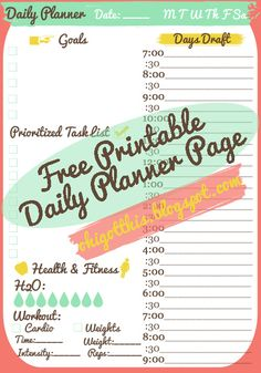 Oh, I Got This!: Free Printable Planner Page (Yay Free!)