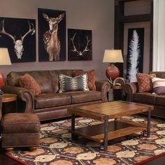 BROYHILL LARAMIE BROWN LOVESEAT - SOFA, COUCH, LOVESEAT | Gallery Furniture - Houston, TX