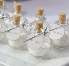 Fairy Dust ~ LOVE this idea better then rice or flowers!!