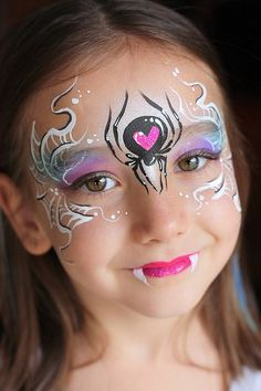 Face Painting for your child's birthday party or special event - Face Painting Calgary, Nadine's Dreams Face Painting Princess Face Painting, Girl Face Painting, Face Painting Designs, Body Painting, Face Paintings, Spider Face Painting, Monster Face Painting, Halloween Design, Halloween Art