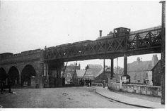 The railway bridge over Coppins Bridge, Newport - now long gone Disused Stations, Southern Railways, Isle Of Wight, Nottingham, Beautiful Islands, Abandoned Places, Brooklyn Bridge, Locomotive, Newport