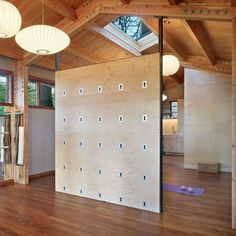 yoga wall for the home! This is DEFINITELY on my bucket list for 2015. Adding a yoga wall to my exercise room!