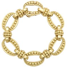 Kieselstein-Cord Gold Studded Flexible Open Link Bracelet - Antique Reflections via 1stdibs