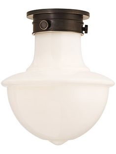 Branford Semi Flush Fixture With Shade Shade House, Hallway Lighting, Antique Hardware, Light Bulb, Kitchens, Water Bottle, Shades, Antiques, Antiquities