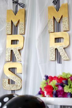 Easy Mr. & Mrs. Wedding Letter Banner DIY