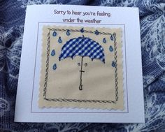 This get well card was created by very carefully sewing fabric onto a canvas background. The finished result is similar to that of a painted picture but far more special and unique. The needle was my pen and the fabric was my paint. By choosing this card, you would be sending an original piece of artwork. Each card is individually handmade by me in my studio so small variations from the one in the photo make it uniquely special. By choosing this unique, handcrafted artwork, you are giving…