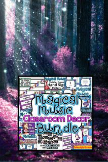 Music makes MAGIC happen in your classroom. See some ideas for decorating your music room with unicorns, narwhals, gnomes and dragons. Kindergarten Music, Preschool Music, Teaching Music, Classroom Setup, Music Classroom, Elementary Music, Upper Elementary, Sixth Grade, Second Grade