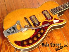 SOLD* 1960 HARMONY H-49 Stratotone Vintage Electric Guitar ...
