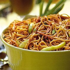 1 (8-ounce) package  Carrot, fresh   2  Cucumbers, large   4  Garlic cloves   6  Green onions   1/2 cup  Coconut milk   1/2 cup  Peanut butter, chunky   1 cup  Soy sauce   1 (16-ounce) package  Soba noodles or angel hair pasta, cooked   1/2 tsp  Red pepper, dried   1/2 tsp  Salt   1/2 cup  Rice wine vinegar   1 tsp  Sesame oil