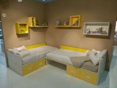 Colori camera da letto bambini - Camera bambini con pareti senape