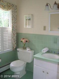 1969 mint green bathroom