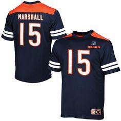 Brandon Marshall Chicago Bears Majestic Hashmark II T-Shirt - Navy Blue - $34.19