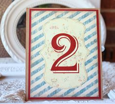 Wedding Table Numbers Vintage Boy Met Girl Collection by SunshineandRavioli, $2.75