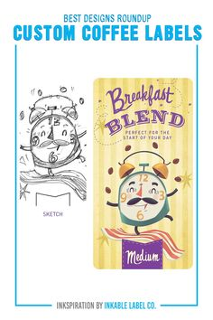 PLUS PRO DESIGN TIPS. Custom coffee packaging carries the heart of your brand. For big inspiration, here are some of the best custom coffee label designs we've seen! Coffee Label, Coffee Packaging, Custom Packaging, Custom Labels, Packaging Design Inspiration, Label Design, Best Coffee, Cool Designs, Big