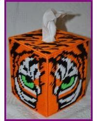 Tiger Face Tissue Box Cover