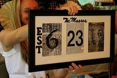 Make their own wedding gift with  customized photo frames with all the love information.