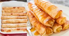 Apple Pie Taquitos - Jo Cooks -- Apple Pie Taquitos (makes – crispy, sweet, and delicious, these taquitos are simple to make. All the makings of a great apple pie, in a fun taquito form. Apple Desserts, Apple Recipes, Sweet Recipes, Apple Fruit, Ham Recipes, Mexican Food Recipes, Dessert Recipes, Mexican Sweet Breads, Quick Dessert