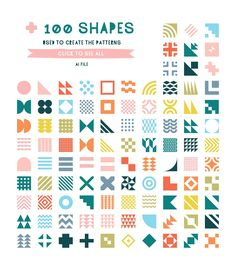 (Super Fun) Geometric Patterns by Anugraha Design on Creative Market - On My Block Geometric Patterns, Geometric Designs, Shape Patterns, Textures Patterns, Geometric Shapes, Geometric Font, Simple Geometric Pattern, Fun Patterns, Graphic Patterns