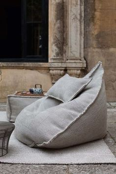 Do not let the simple form of the Sail Pouf fool you; once you sit in it, you may never want to get up. With this pouf, your body will be cocooned in a soft tex #ottomanmakeoversimple
