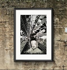 "Name: ""ORIENTAL DREAM""  ink in paper art by Pablo Maritorena"